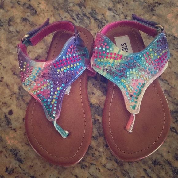 97aa6624d5a2 Steve madden shoes super cute bling tie dye sandals poshmark jpg 580x580 Tie  dye sandals